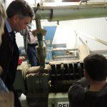 Visite de la ferme du Vieux Buisson à St Pierre-du-Mesnil en présence de M. Ludovic Rivière et M. Patrick Pottier cultivateur de chanvre